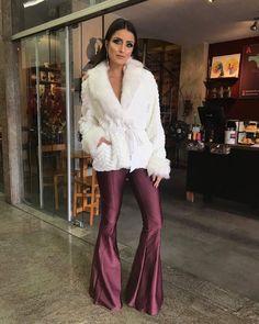 Bell Bottom Pants, Bell Bottoms, Platform High Heels, Wide Leg Jeans, Fur Coat, Women Wear, Legs, How To Wear, Jackets