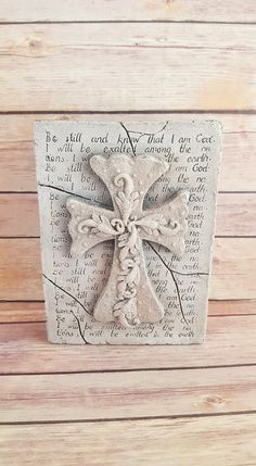 Check out this item in my Etsy shop https://www.etsy.com/listing/267033103/wall-cross-plaque-decorative-grey