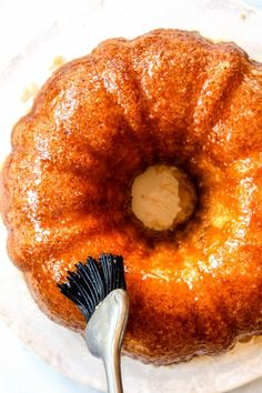 Kentucky Butter Cake the BEST cake you can make in a bundt pan! It's a rich, buttery, crazy moist vanilla poke cake infused with sweet, luscious butter sauce that soaks through the cake. The cake tastes even better the next day – perfect for stress free entertaining or holidays (like Easter!). Tips and tricks, Step-by-Step Photos, How to Make Ahead, How To Freeze included!