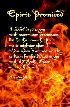 Matthew ~ God's promise to baptize you with the Holy Ghost & with fire Spirit Of Truth, Holy Spirit, Scripture Quotes, Bible Scriptures, Prayer Warrior, Holy Ghost, The Kingdom Of God, Gods Promises, Trust God