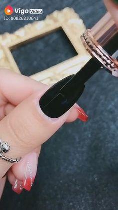 Nail Art Hacks, Nail Art Diy, Cool Nail Art, Nail Art Designs Videos, Nail Art Videos, Diy Acrylic Nails, Diy Nails, Uv Gel Nails, Manicure