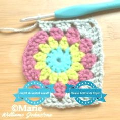 Easy Free Sunburst Granny Square Crochet Pattern Making granny square corners with your crochet. Granny Square Crochet Pattern, Crochet Patterns, Pattern Making, Easy Crochet, Blanket, How To Make, Free, Style, Swag