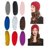 Mother & Kids Accessories Persevering Baby Toddler Boys Girls Indian Style Stretchy Solid Turban Hat Hair Head Wrap Cap