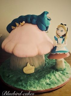 Alice and caterpillar cake