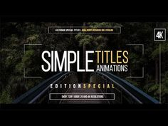 45 Simple Titles Special Edition  | AF Templates | videohive