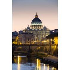 Blick über den Tiber zum Petersdom, Rom, Italien, Fototapete, Merian, Fotograf: G. Hänel