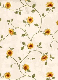 vintage sunflower wallpaper - Google Search
