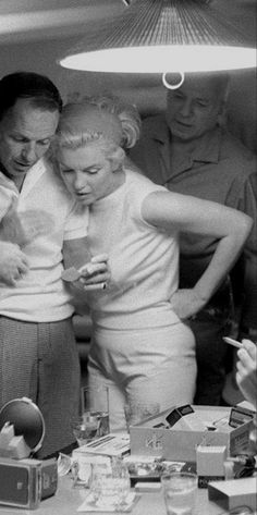 "Frank Sinatra and Marilyn Monroe ~ [on Frank Sinatra] ""He is a man at the top of…"