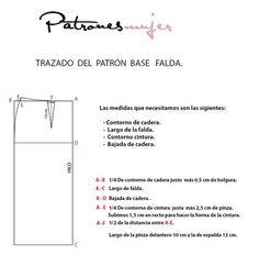 Trazado del patrón base de falda | Aprender manualidades es facilisimo.com