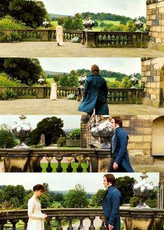 Keira Knightley (Elizabeth Bennet) & Matthew Macfadyen (Mr. Fitzwilliam Darcy) - Pride & Prejudice (2005) #janeausten #joewright #fanart