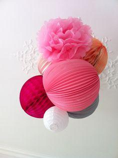 bolas de papel de seda