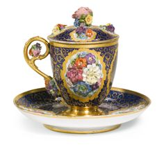 A porcelain chocolate cup and saucer, Imperial Porcelain Manufactory, St Petersburg, period of Nicholas I (1825-1855), circa 1840   lot   Sotheby's