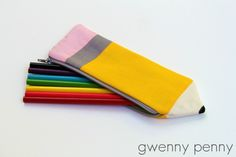 Bolsa lápis em tecido é linda e divertida (Foto: gwennypenny.com)