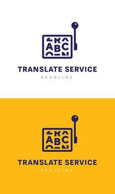 Translate service logo #logotemplate #logodesign #branding #visualidentity #concept #logos #customdesign #designers