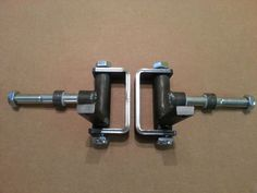 """Complete 5/8"""" axle Steering Spindle Bracket set w/ nylon inserts Go Kart, Dolly"""