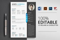 Here is Inspiring Photoshop Resume Template Pictures for you. √ Ultimate Collection Of Free Resume Templates Css Author Dow. College Resume Template, Best Resume Template, Resume Design Template, Cv Template, Psd Templates, Design Templates, Resume Words Skills, Resume Writing Tips, Resume Tips
