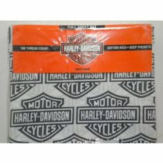 HARLEY DAVIDSON FLAME RIDER FIREBALL TWIN SHEET SET by Harley-Davidson. $34.95. Machine wash cold, tumble dry.. Genuine Harley Davidson motorcycles licensed bedding.. 180 Thread Count Cotton Rich 60% Cotton 40% Polyester.. Includes one flat twin sheet, one fitted twin sheet and one standard pillowcase.. Includes one flat twin sheet, one fitted twin sheet and one standard pillowcase. 180 Thread Count Cotton Rich 60% Cotton 40% Polyester. Genuine Harley Davidson motorcycles licens...