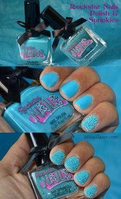 Rockstar Nails Nail Polish & Nail Sprinkles via @Mina Slater #nails #nailpolish