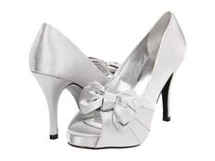 rsvp Perfect Silver Satin - Zappos.com - wedding shoes?