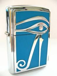 Eye of Horus Zippo from 2002. The search continues as the price rises...