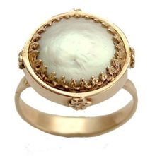 14K Yellow gold Victorian engagement ring with a by artisanimpact, $816.00