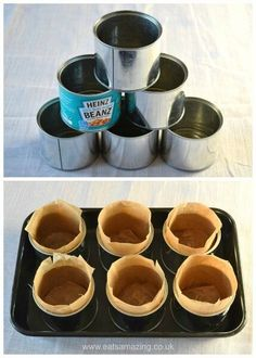 Baked Bean Tin Mini Christmas Cakes , How to bake mini Christmas cakes in baked bean tins - easy recipe and instructions from Eats Amazing UK. Mini Christmas Cakes, Christmas Treats, Christmas Recipes, Xmas Cakes, Christmas Cake Recipe Uk, Frugal Christmas, Christmas Pudding, Christmas Stuff, Kids Christmas