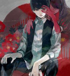 Kaneki e Rize - Tokyo Ghoul