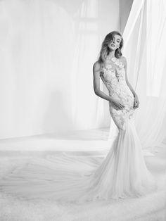 Vestido de noiva efeito tatuagem - Raen