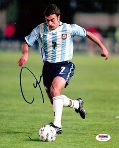 Claudio Lopez Autographed 8x10 Photo Argentina PSA/DNA #U54464