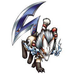 Reppamon - Champion level Holy Beast digimon