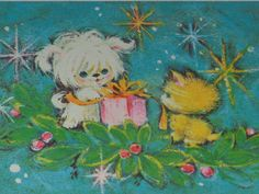 Lot of 8  Vintage Unused  Christmas Greeting Cards With Envelopes