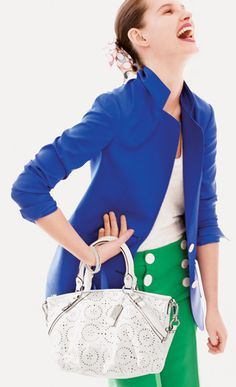 SO I HAVE COBALT PANTS AND A KELLY GREEN JACKET, WOULD THAT WORK?
