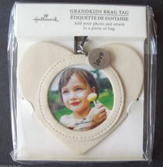 Hallmark Grandkids Brag Tag For Your Photo Simulated Leather To Attach To Purse #Hallmark