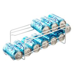 We've designed our roomy Can Dispenser to hold an entire 12-pack of drinks - others hold only 10 cans.  Since beverages are sold in packs of 6 or 12, our version is easily the most practical.  (In Sub-Zero refrigerators, it may be necessary to adjust the spacing of the door shelves to accommodate the dispenser.)