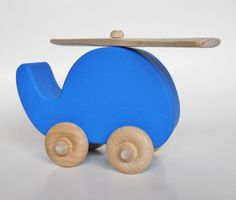 De madera de helicóptero de juguete, juguete de waldorf, decoración del cuarto de niños, sala de niños
