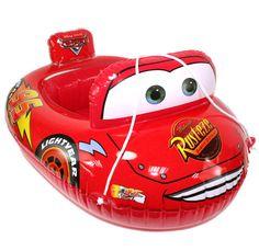 Baby Kids Toddler Lightning McQueen Swim Pool Boat Ring Raft Float Tube Seat Aid…