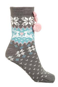 1PK Reindeer Chunky Knit Slipper Socks #bonmarche #socks Knitted Slippers, Slipper Socks, Reindeer, Knitting, Fashion, Moda, Knit Slippers, Penny Loafer, Tricot