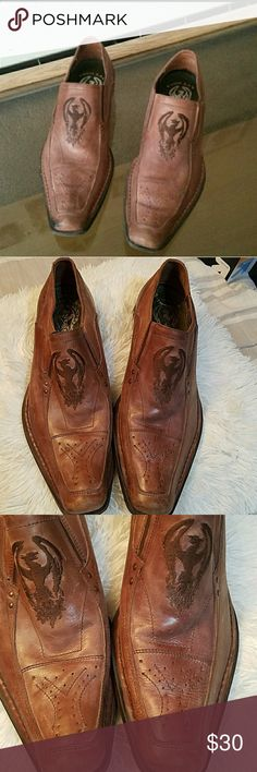 Soho lab Shoes Men's Brown leather Soho lab Dress shoes..Great Condition. Dnt think they were ever used . Soho lab Shoes