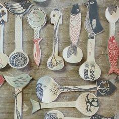 New spoons before kiln… dans le four ce soir