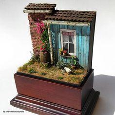 """Springtime cottage"" 1/35 scale. By Andreas Rousounelis. #diorama #vignette https://www.facebook.com/andreasrousounelismodels"