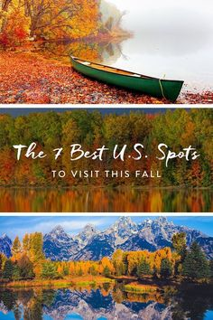 While we're bummed about the end of summer, fall brings some great things. Here, seven fall vacations for all the foliage-pumpkim-sweater goodness. Best Places To Travel, Vacation Places, Vacation Destinations, Vacation Spots, Cool Places To Visit, Vacation Ideas, Vacation Travel, Best States To Visit, Fall Vacations