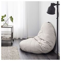 IKEA   DIHULT, Floor Pillow , A Spacious Seat On The Floor Or A Comfortable  And Relaxing Cozy Moment With DIHULT Folded Against The Wall.