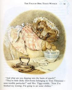 Beatrix Potter. Mrs.Tiggywinkle is downstairs.