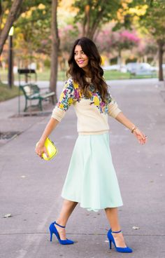 How To Transition A Summer Midi Skirt to Fall… by @latishas
