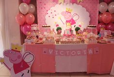 Violeta Glace 's Birthday / Peppa Pig - Photo Gallery at Catch My Party 3rd Birthday Parties, 1st Birthday Girls, Birthday Party Decorations, Peppa Pig Balloons, Aniversario Peppa Pig, Cumple Peppa Pig, Peppa Pig Birthday Cake, First Birthday Pictures, Pig Party