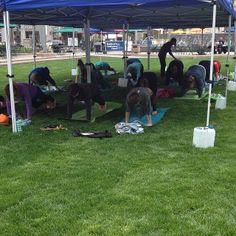 Yoga in the Park #campusmartiuspark #yoga #detroit