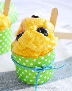 Helado de Mango saludable, hecho con ingredientes naturales. Es un helado cremoso, fácil de preparar y sin azúcar. Todo un sueño hecho realidad especialmente para las personas que cuidan su salud