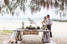 Boho Beach Wedding Inspiration #noosa #beach #styling
