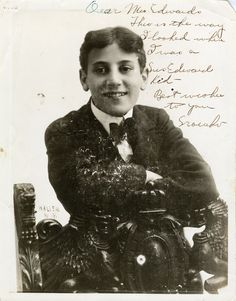 15 year-old Julius 'Groucho' Marx.  Via A Mythical Monkey: Before, During And After #11: Groucho Marx