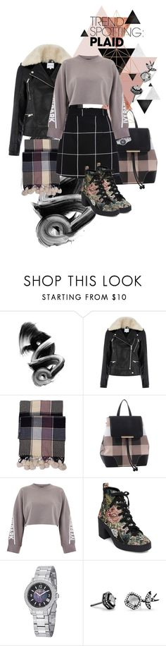 """""""plaid #1"""" by scandalin2 ❤ liked on Polyvore featuring Warehouse, MKF Collection, Ivy Park, Steve Madden, Stührling, Mix & Match, contestentry and NYFWPlaid"""